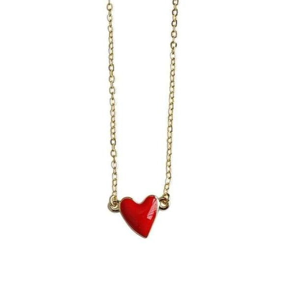 Collier ROUGE AMOUR - colliers - La boutique by c.