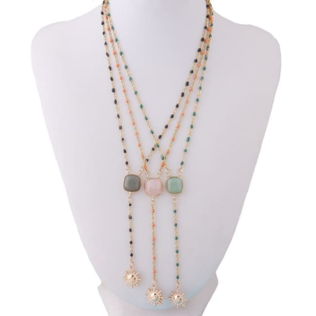 Collier sautoir HAPPY SUMMER - colliers - La boutique by c.