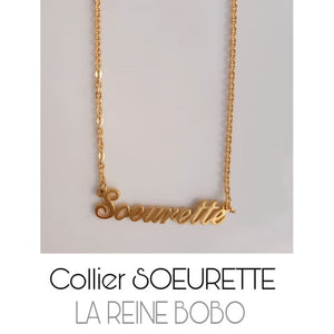 Collier SOEURETTE - or - colliers - La boutique by c.