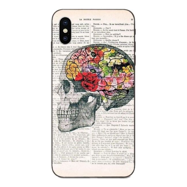Coque en silicone Crâne en Fleur de la COLLECTION CABINET DE CURIOSITES (Samsung) - Galaxy A5 2016 - La boutique by c.