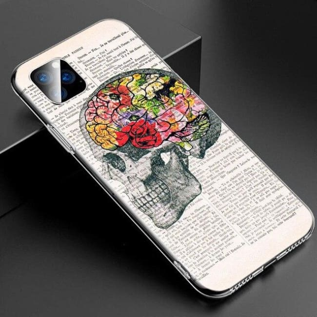 Coque en silicone CRANIUM de la COLLECTION CABINET DE CURIOSITES (iphone) - iPhone SE 2020 / A - Coques GSM - La boutique by c.