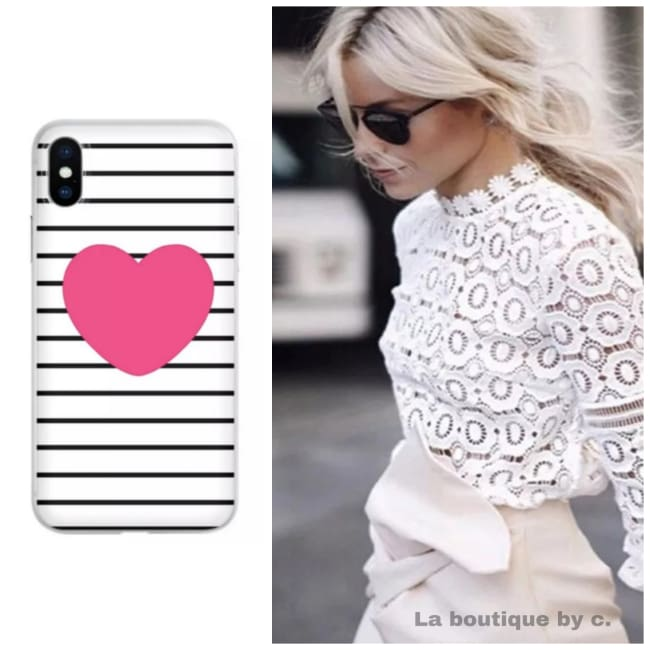 Coque en silicone FOREVER de la COLLECTION LOVE ( pour iphone ) Coque GSM - La boutique by c.