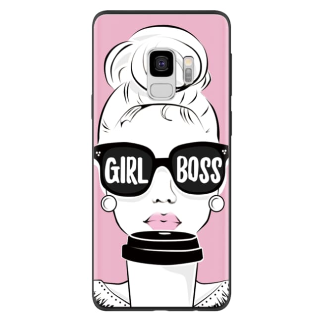 Coque en silicone GIRL BOSS de la COLLECTION LOVE ( pour Samsung ) A5 2017 A520F - Coques GSM - La boutique by c.