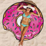 Drap de plage HAMBURGER / DONUTS de la COLLECTION WAIKIKI - donuts - drap de plage - La boutique by c.
