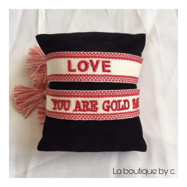 Duo de bracelets LOVE & YOU ARE GOLD BABY de la COLLECTION SUMMER - bracelets - La boutique by c.