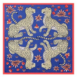 Foulard LEOPARD de la COLLECTION FRIVOLE - bleu - mode - La boutique by c.