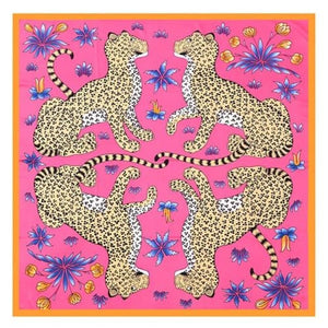 Foulard LEOPARD de la COLLECTION FRIVOLE - fushia - mode - La boutique by c.