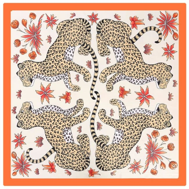 Foulard LEOPARD de la COLLECTION FRIVOLE - mode - La boutique by c.