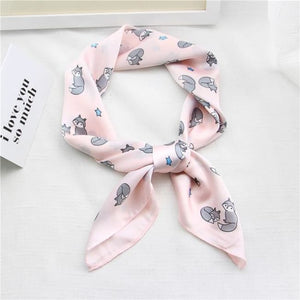 Foulard RENARD - rose - mode - La boutique by c.