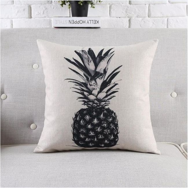 Housses de coussin COLLECTION BLACK AND WHITE - ananas - coussins - La boutique by c.