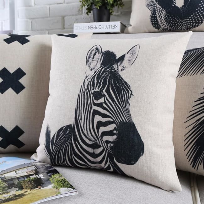 Housses de coussin COLLECTION BLACK AND WHITE - coussins - La boutique by c.