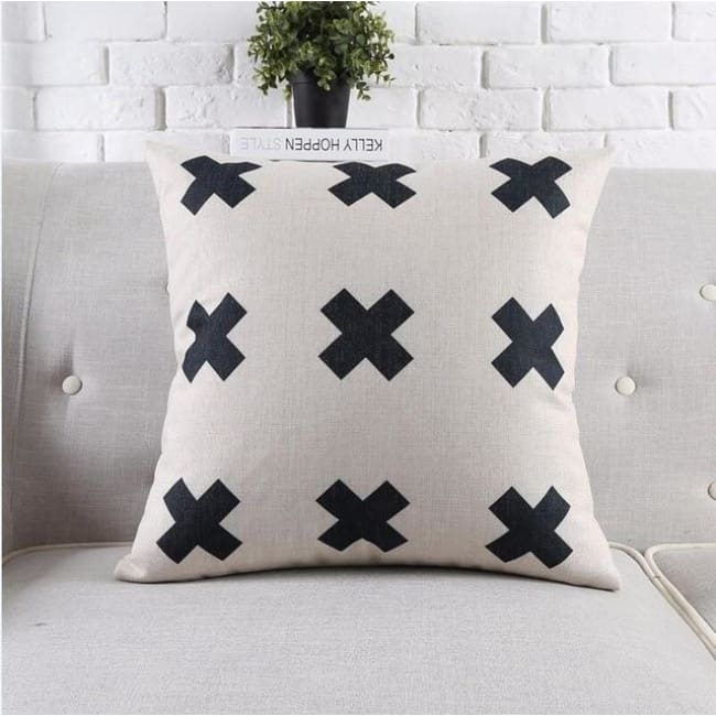 Housses de coussin COLLECTION BLACK AND WHITE - CROIX - coussins - La boutique by c.