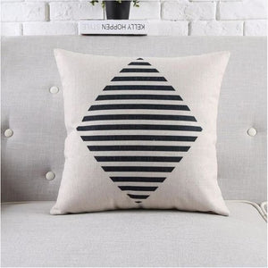 Housses de coussin COLLECTION BLACK AND WHITE - losange - coussins - La boutique by c.