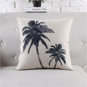 Housses de coussin COLLECTION BLACK AND WHITE - palmiers - coussins - La boutique by c.