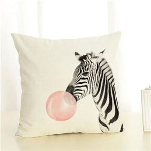 Housses de coussin COLLECTION BUBBLE - zebre/rose - coussins - La boutique by c.