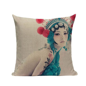 Housses de coussin COLLECTION CHINA GIRL - REENA - coussins - La boutique by c.