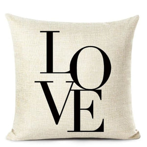 Housses de coussin COLLECTION LOVE HOME - A - coussins - La boutique by c.