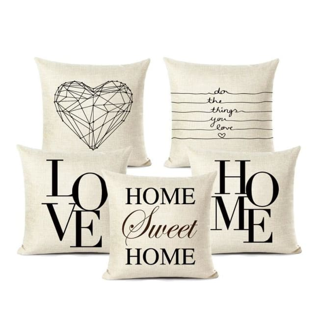 Housses de coussin COLLECTION LOVE HOME - coussins - La boutique by c.
