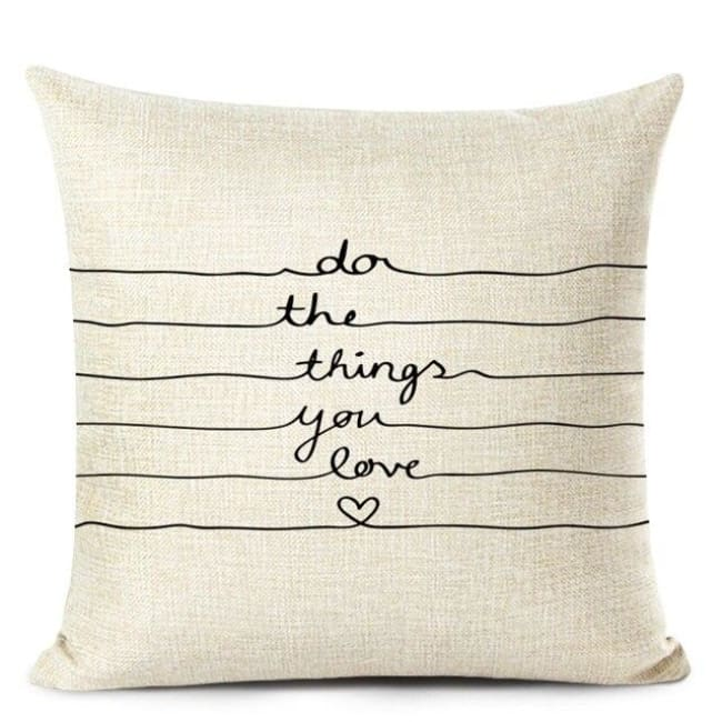 Housses de coussin COLLECTION LOVE HOME - H - coussins - La boutique by c.