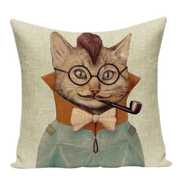Housses De Coussin Collection Monsieur Animal - Chat - Coussins - La Boutique By C.