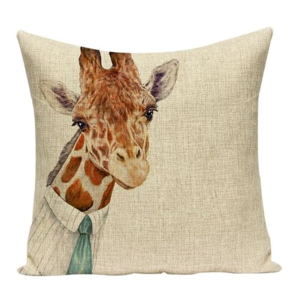 Housses De Coussin Collection Monsieur Animal - Girafe - Coussins - La Boutique By C.