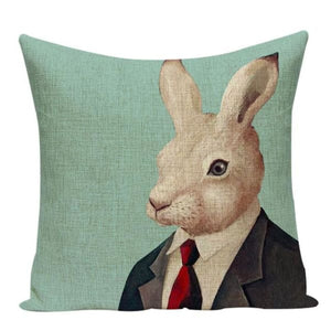 Housses De Coussin Collection Monsieur Animal - Lapin - Coussins - La Boutique By C.