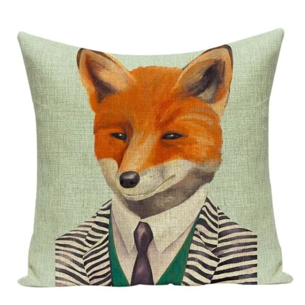 Housses De Coussin Collection Monsieur Animal - Renard - Coussins - La Boutique By C.