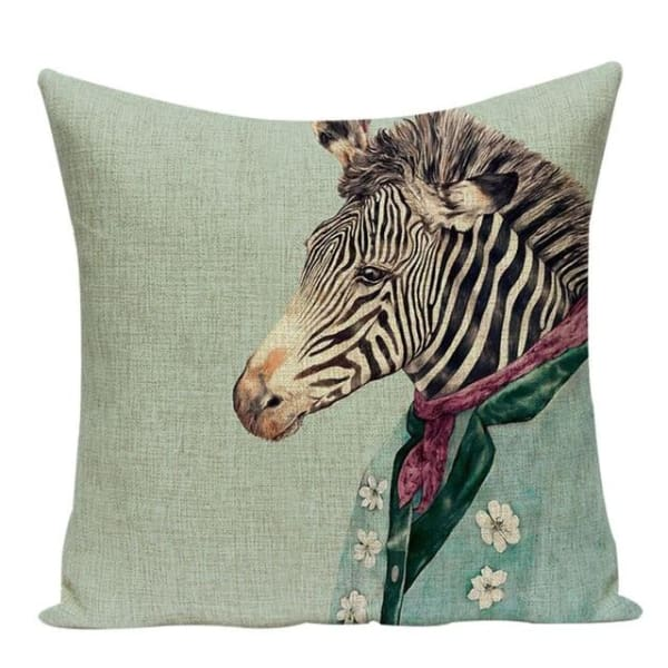 Housses De Coussin Collection Monsieur Animal - Zèbre - Coussins - La Boutique By C.