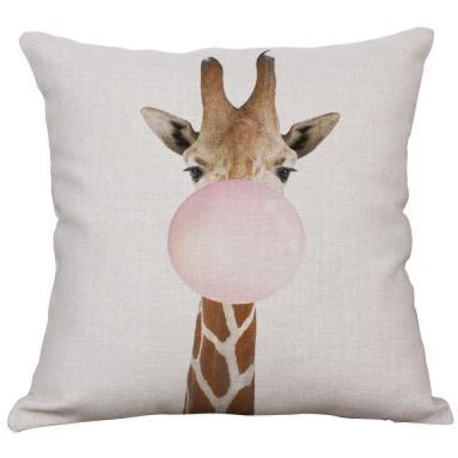 Housses de coussin COLLECTION PINK BUBBLE - girafe 1 - coussins - La boutique by c.