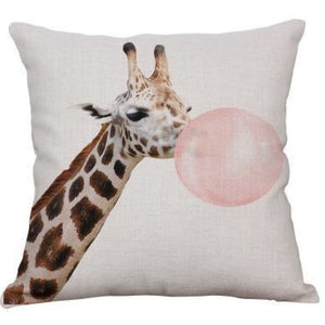 Housses de coussin COLLECTION PINK BUBBLE - girafe 2 - coussins - La boutique by c.