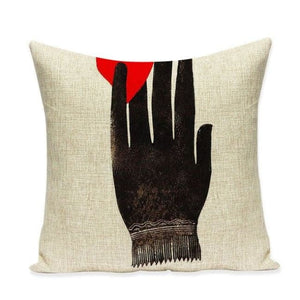 Housses de coussin COLLECTION VERTIGO - Black & heart - coussins - La boutique by c.
