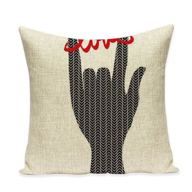 Housses de coussin COLLECTION VERTIGO - Love & black - coussins - La boutique by c.