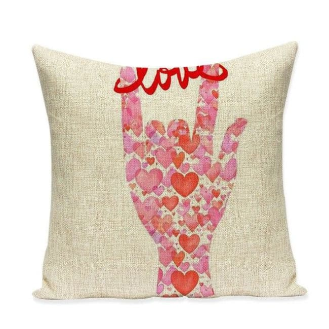 Housses de coussin COLLECTION VERTIGO - love & heart - coussins - La boutique by c.