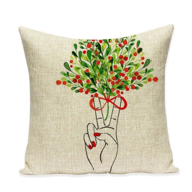 Housses de coussin COLLECTION VERTIGO - peace & love - coussins - La boutique by c.