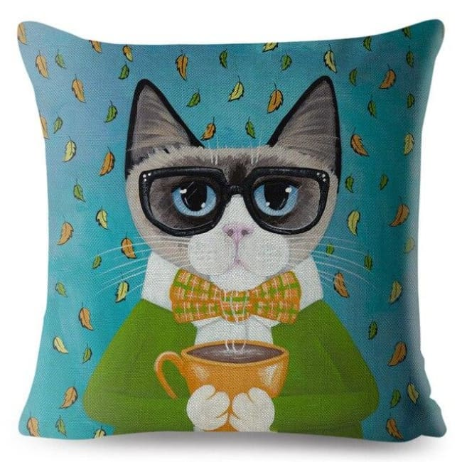 Housses de coussin de la COLLECTION MY CAT - Anatole - coussins - La boutique by c.