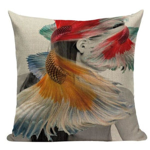 Housses de coussin WOMAN 2 de la COLLECTION MY HOME - B - coussins - La boutique by c.