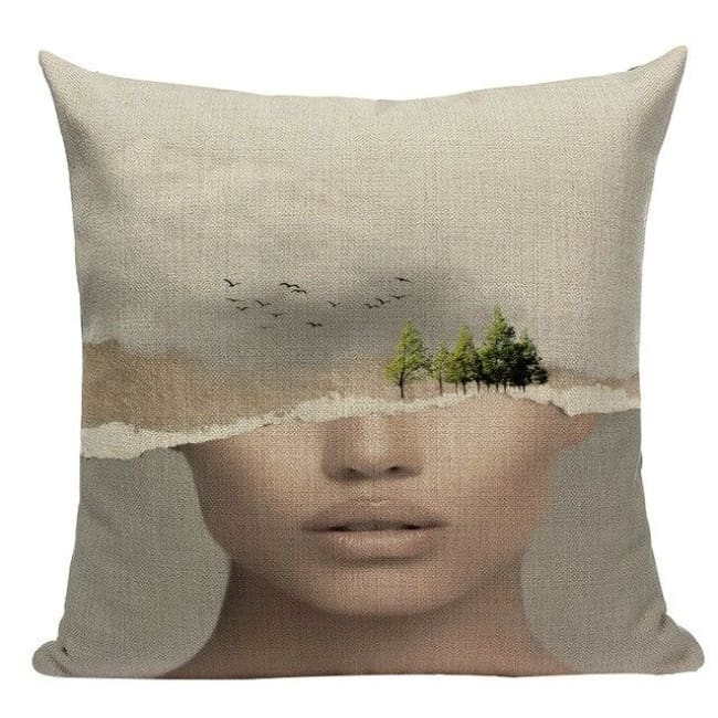 Housses de coussin WOMAN 2 de la COLLECTION MY HOME - E - coussins - La boutique by c.