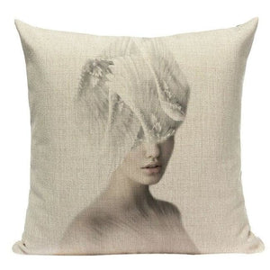 Housses de coussin WOMAN 2 de la COLLECTION MY HOME - F - coussins - La boutique by c.