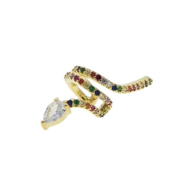 Manchette doreille SERPENT de la COLLECTION MADAME GIRLY - arc-en-ciel - boucles doreilles - La boutique by c.