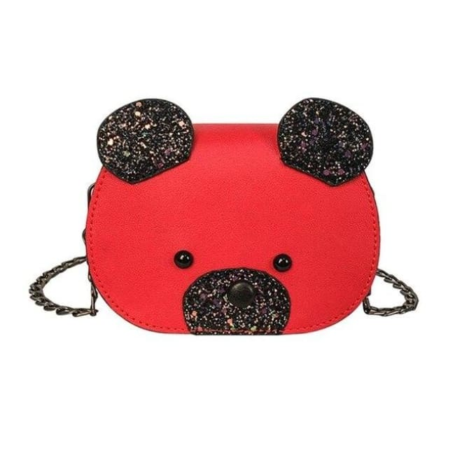 Mini sac OURSON de la COLLECTION FASHION - rouge - sacs - La boutique by c.