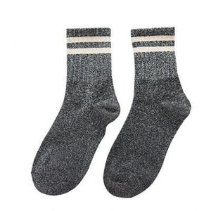 Paire de chaussettes FITNESS de la COLLECTION GLITTER - gris - mode - La boutique by c.