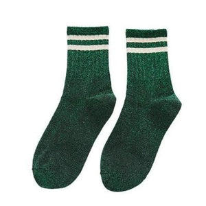 Paire de chaussettes FITNESS de la COLLECTION GLITTER - vert - mode - La boutique by c.
