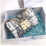 Petit sac PYTHON de la COLLECTION MONACO - gris - sacs - La boutique by c.