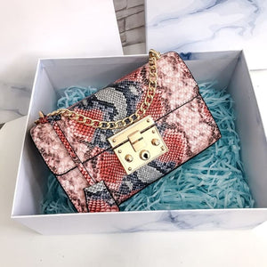Petit sac PYTHON de la COLLECTION MONACO - rose - sacs - La boutique by c.