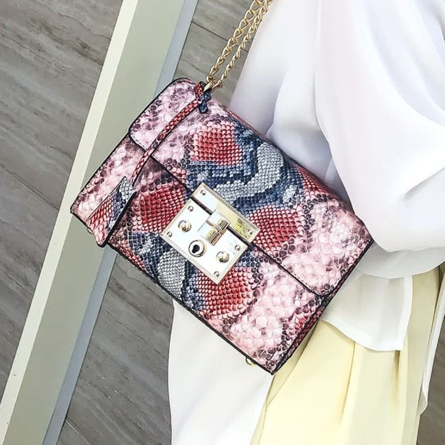 Petit sac PYTHON de la COLLECTION MONACO - sacs - La boutique by c.