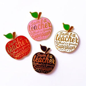 Pins IM A TEACHER - blanc - pins - La boutique by c.