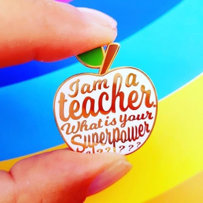 Pins IM A TEACHER - pins - La boutique by c.