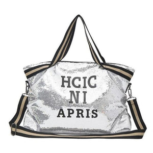 Sac GOSSIP GIRL de la COLLECTION CHIC IN PARIS - argent - sacs sport voyage - La boutique by c.