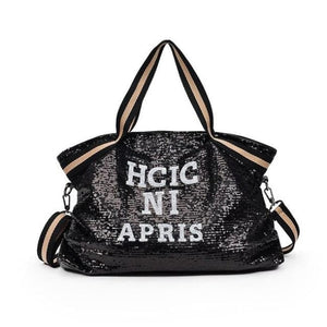 Sac GOSSIP GIRL de la COLLECTION CHIC IN PARIS - noir - sacs sport voyage - La boutique by c.