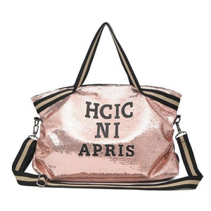 Sac GOSSIP GIRL de la COLLECTION CHIC IN PARIS - rose - sacs sport voyage - La boutique by c.